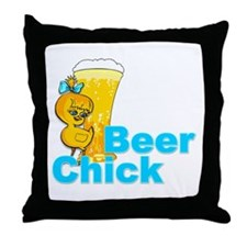 Beer Chick #2 Throw Pillow