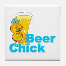 Beer Chick #2 Tile Coaster