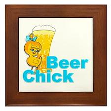 Beer Chick #2 Framed Tile