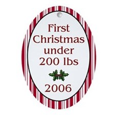 2006 First Christmas Under 200 Oval Ornament