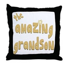The Amazing Grandson Throw Pillow
