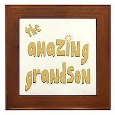 The Amazing Grandson Framed Tile