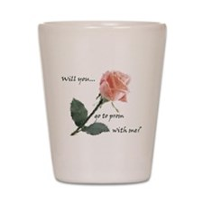 Will you go to prom with me? Shot Glass