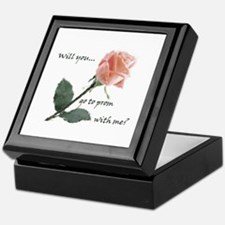 Will you go to prom with me? Keepsake Box
