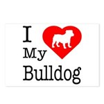 I Love My Bulldog Postcards (Package of 8)