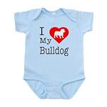 I Love My Bulldog Infant Bodysuit