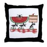 Funny Picnic Throw Pillow