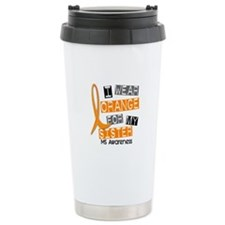 I Wear Orange 37 MS Travel Mug