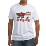 Funny Picnic Fitted T-Shirt