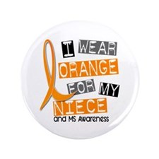 """I Wear Orange 37 MS 3.5"""" Button"""