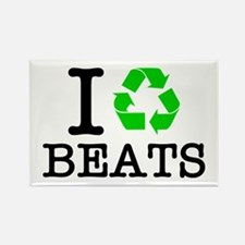 I Recycle Beats Rectangle Magnet