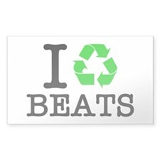 I Recycle Beats Decal