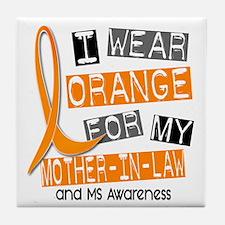 I Wear Orange 37 MS Tile Coaster