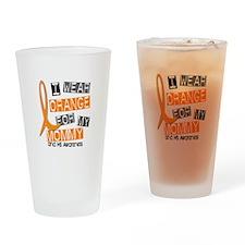 I Wear Orange 37 MS Drinking Glass