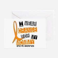 I Wear Orange 37 MS Greeting Card