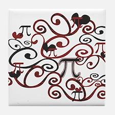 Whimsy Math Pi Tile Coaster