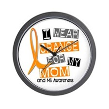 I Wear Orange 37 MS Wall Clock