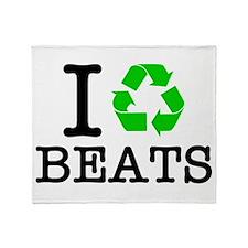 I Recycle Beats Throw Blanket