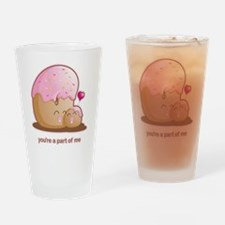 Donut Pair Drinking Glass