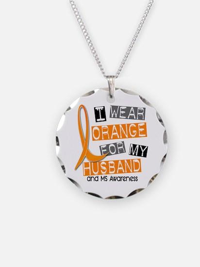 I Wear Orange 37 MS Necklace Circle Charm