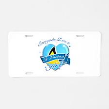 I heart St Lucian Designs Aluminum License Plate