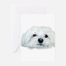 Bogart the Maltese Greeting Cards (Pk of 20)