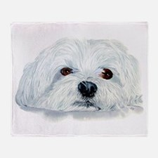 Bogart the Maltese Throw Blanket