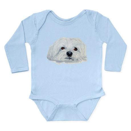 Bogart the Maltese Long Sleeve Infant Bodysuit