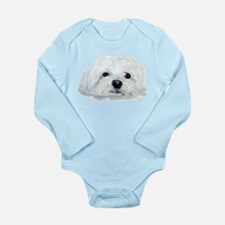 Bogart the Maltese Long Sleeve Infant Bodysuit