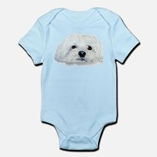 Bogart the Maltese Infant Bodysuit