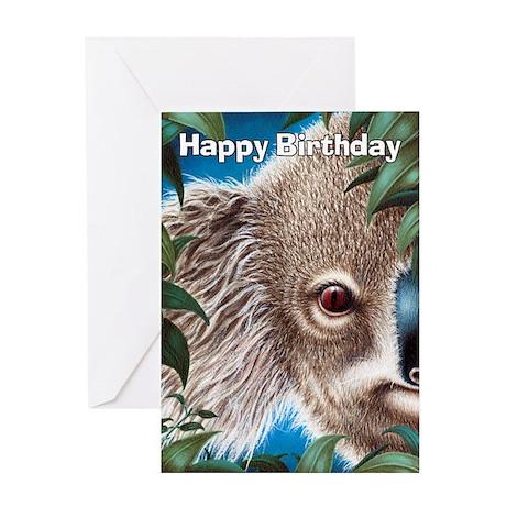 Curios Koala Greeting Card