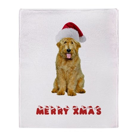 Goldendoodle Christmas Throw Blanket