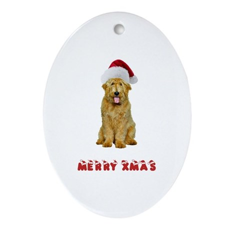 Goldendoodle Christmas Ornament (Oval)
