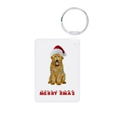 Goldendoodle Christmas Keychains
