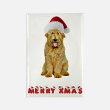 Goldendoodle Christmas Rectangle Magnet