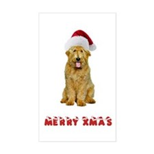 Goldendoodle Christmas Sticker (Rectangle)