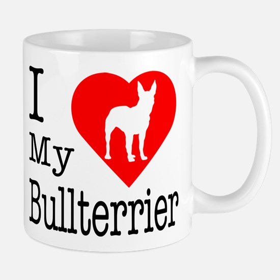 I Love My Bullterrier Mug