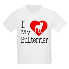 I Love My Bullterrier T-Shirt
