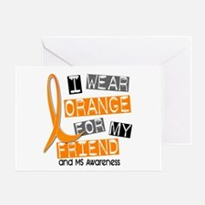 I Wear Orange 37 MS Greeting Card