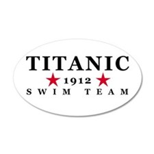 Titanic 1912 Swim Team 22x14 Oval Wall Peel
