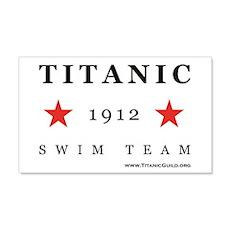 Titanic 1912 Swim Team 22x14 Wall Peel