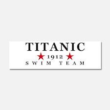 Titanic 1912 Swim Team Car Magnet 10 x 3