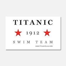 Titanic 1912 Swim Team Car Magnet 20 x 12