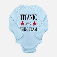 Titanic 1912 Swim Team Long Sleeve Infant Bodysuit