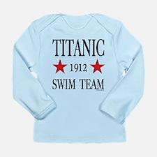 Titanic 1912 Swim Team Long Sleeve Infant T-Shirt