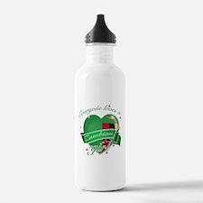 I heart Zambian Designs Water Bottle