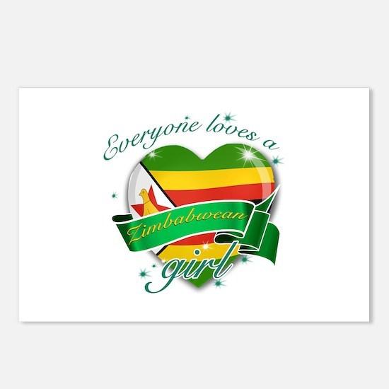 I heart Zimbabwean Designs Postcards (Package of 8