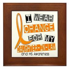 I Wear Orange 37 MS Framed Tile