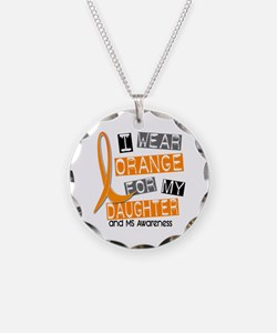 I Wear Orange 37 MS Necklace Circle Charm