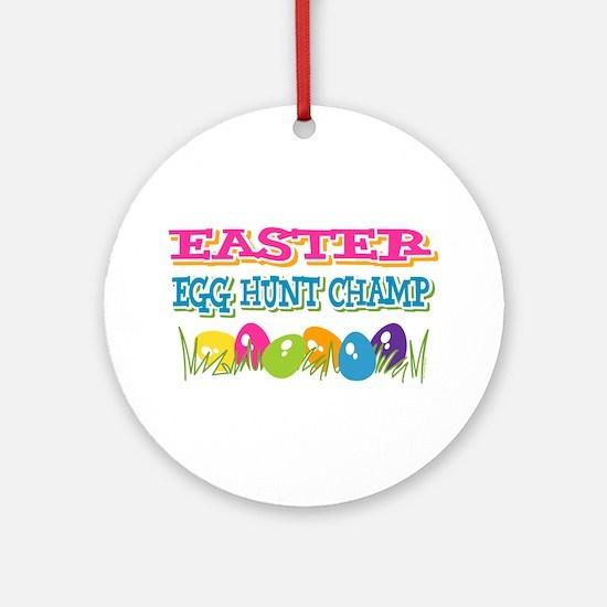 Easter Egg Hunt Champ Ornament (Round)